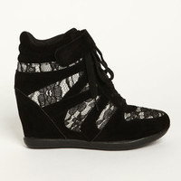 LACE WEDGE SNEAKERS