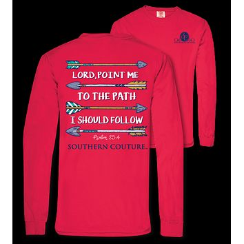 Southern Couture Lord Point Me Arrows Comfort Colors Long Sleeve T-Shirt