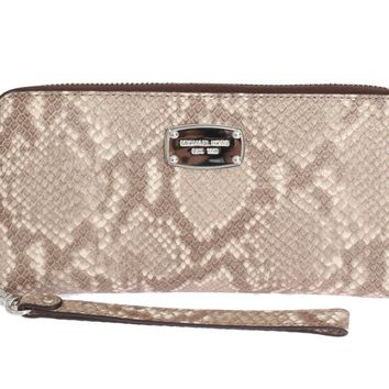 Beige JET SET ITEM Continental Wallet