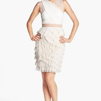 BCBGMAXAZRIA 'Jaya' Tiered Ruffle Mesh Dress