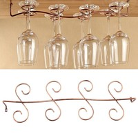 Wine Glass Holder 8 Wine Glass Rack Stemware Hanging Under Cabinet Holder Hanger Shelf Kitchen