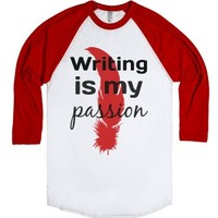 Writing-Unisex White/Red T-Shirt