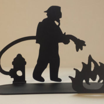 Fire Fighter Tea Candle Holder