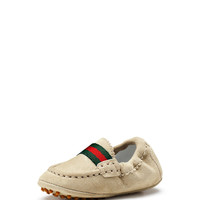 Baby Dandy Driving Shoes, Ivory - Gucci - Ivory