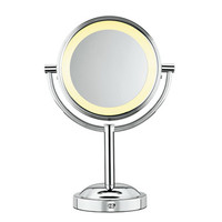 Double-Sided Lighted Makeup Mirror
