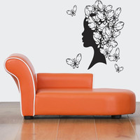 Awesome Gift Wall Vinyl Sticker Decals Mural Art Decor Design Sexy Butterfly Girl Woman 367