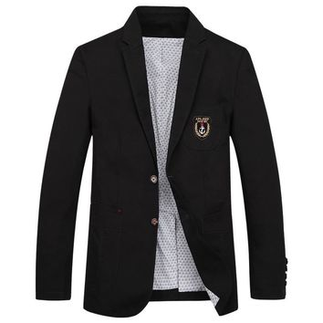 Trendy Casual blazer masculino slim fit embroidery fashion blazer men jacket coat business formal dress suit jacket IN3188 AT_94_13