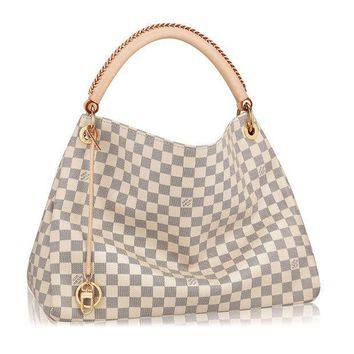 Louis Vuitton Damier Canvas Artsy Mm Handbag Article:n41174 Made In France - Beauty Ticks