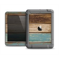 The Wooden Planks with Chipped Green and Brown Paint Apple iPad Mini LifeProof Fre Case Skin Set