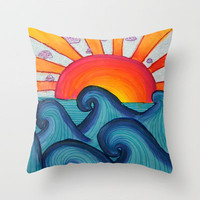summer Throw Pillow by Taylor St. Claire