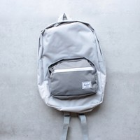 herschel supply co. - pop quiz backpack | mid volume - lunar rock/grey