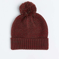Twisted Marled Knit Pom Beanie - Urban Outfitters
