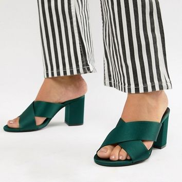 Gestuz cross strap block heel mule at asos.com