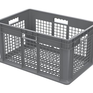 Akro-Mils Grey Straight Wall Solid Plastic Storage Container 23-3/4 x 15-3/4 x 12-1/4