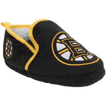 BOSTON BRUINS OFFICIAL NHL 8-16 YOUTH SHERPA SLIPPERS