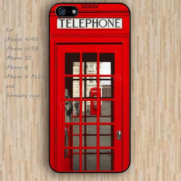 iPhone 4 5s 6 case red public telephone pay phone dream colorful phone case iphone case,ipod case,samsung galaxy case available plastic rubber case waterproof B641