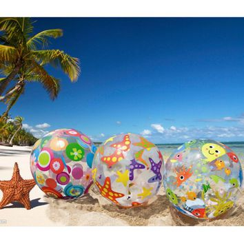 INTEX inflatable beach ball 59040 51cm 3 pattern of printing swimming pool ball beach toy summer toy sport water play