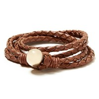 Banana Republic Womens Leather Double Wrap Bracelet Size One Size - Camel
