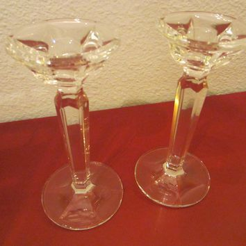 Ralph Lauren Crystal Candle Holders