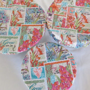 Reusable Bowl Covers, Fabric Bowl Covers, Eco Friendly Bowl Lids, Floral Bowl Covers