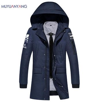 Casual Hooded Down Jackets New Men's White Duck Down Jacket Snow Overcoat Warm Clothing