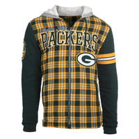 Green Bay Packers Flannel Fleece Hoodie