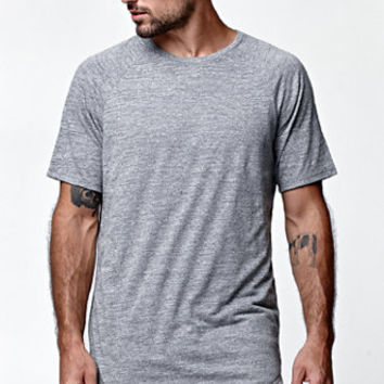 af3be4a8 On The Byas BB Texture Scallop Longline Crew T-Shirt at PacSun.com