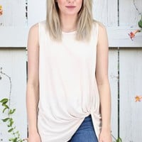 Get Twisted Comfy Basic Tank {Ivory}