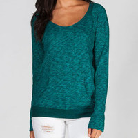 Volcom Moclov Womens Sweatshirt Emerald  In Sizes