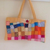 Patchwork Cotton Handbag