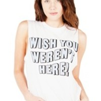 WISH YOU WEREN'T HERE Unisex Muscle Tee