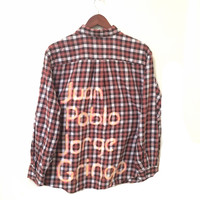 The Beatles Shirt in Orange Plaid Flannel