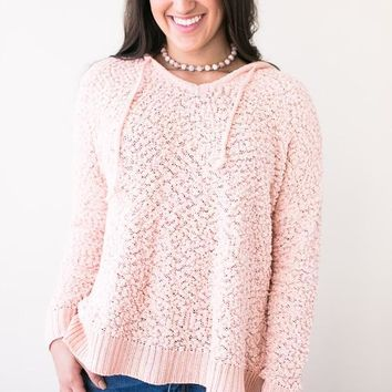 Gift of Love Peach Fuzzy Pullover