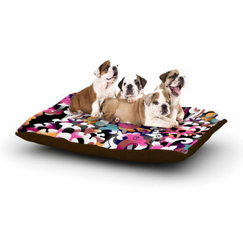 """Victoria Krupp """"Fantasy Flowers"""" Pink Abstract Dog Bed"""