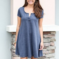 Z Supply Distressed Dress - Blue