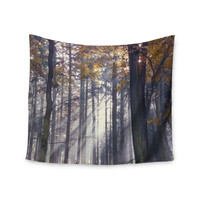 "Alison Coxon ""Autumn Sunbeams"" Trees Photography Wall Tapestry"