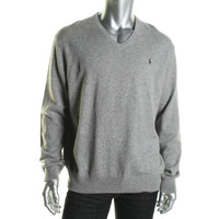 Polo Ralph Lauren Mens Merino Wool Long Sleeves V-Neck Sweater