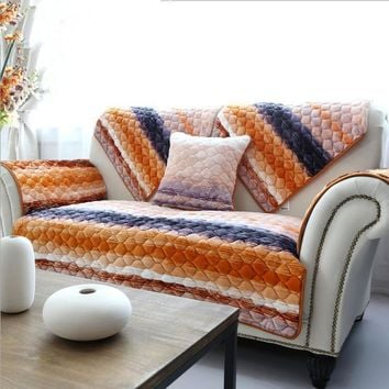 Colorful Stripe Sofa Slipcover