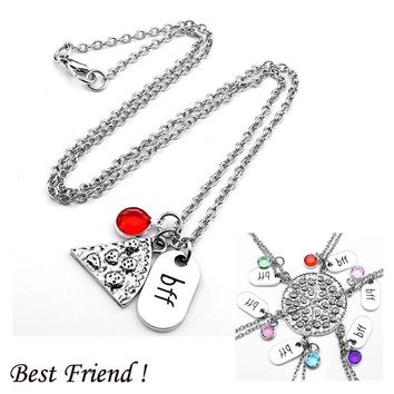 BFF Pizza Necklaces with Charms
