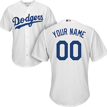 Majestic Men's Custom Cool Base Replica Los Angeles Dodgers Home White Jersey   DICK'S Sporting Goods