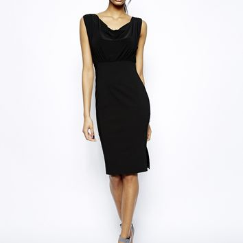 Vesper Sexy Pencil Dress with Cowl Neck