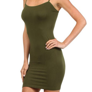 Olive Extra Long Seamless Cami