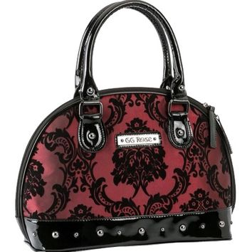"Women's ""Mini Madame"" Handbag by Rock Rebel (Merlot)"