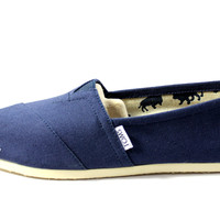Toms Women's Classics Navy Blue Canvas Shoe