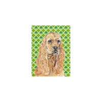 Caroline's Treasures Cocker Spaniel St Patrick's Irish House Flag