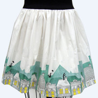 Spoonful of Sugar Border Print Full Skirt by GoFollowRabbits