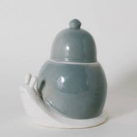 The Dewellers Snail Ceramic Canister