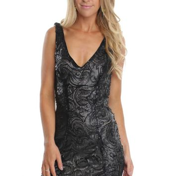 Patterned Sequin Bodycon