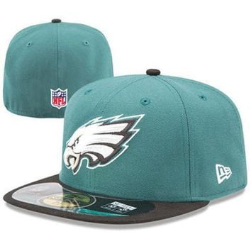 Philadelphia Eagles Kid's NFL New Era On Field Hat Cap Flat Bill Fitted Youth PA