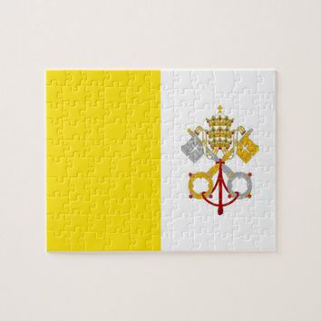 Puzzle with Flag of Vatican